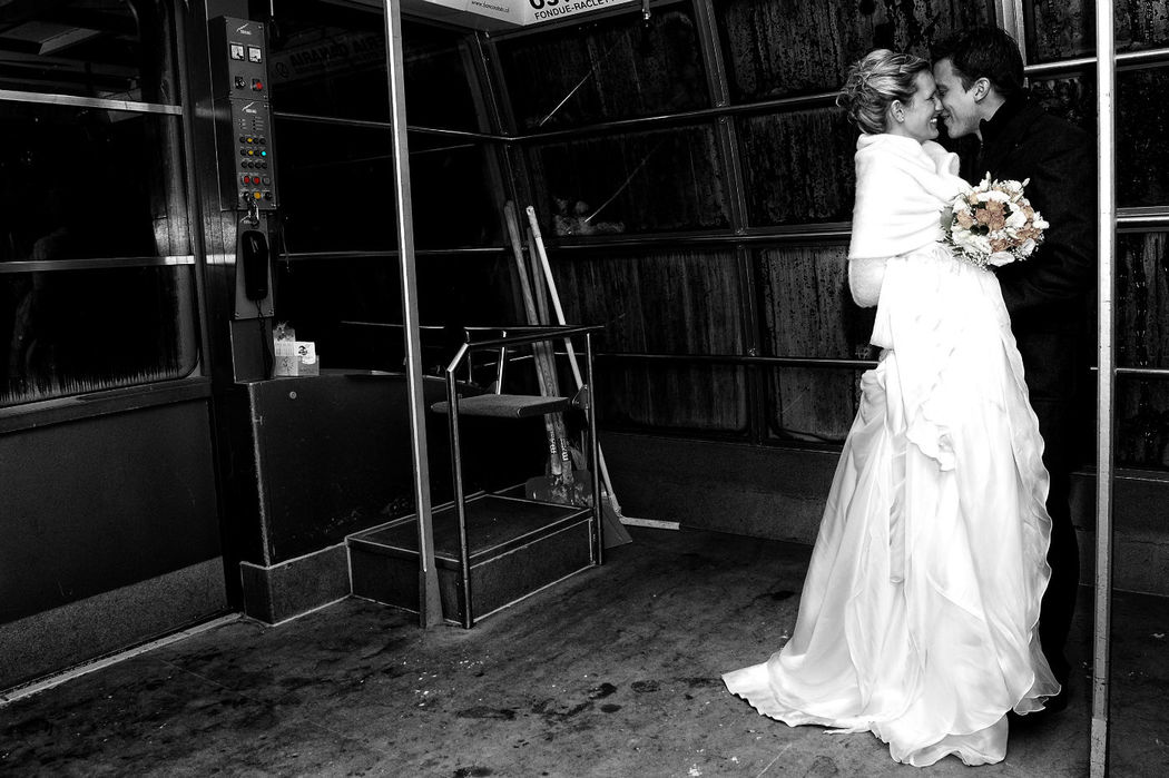 Just Married in Funivia  - Mario Curti Photographer
