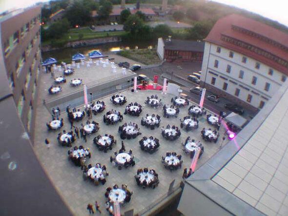 Beispiel: Luftfoto Terrasse, Foto: Mat's Cafe und Bistro.