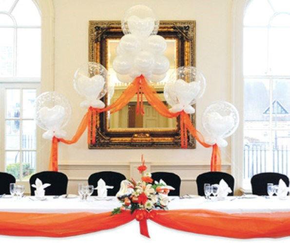 Beispiel: Hochzeitsdekoration, Foto: Erlebnis Dekoration.