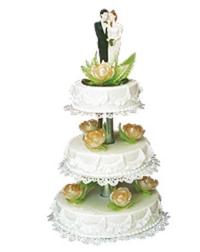Beispiel: Hochzeitstorte, Foto: Café Konditorei Kandulski.
