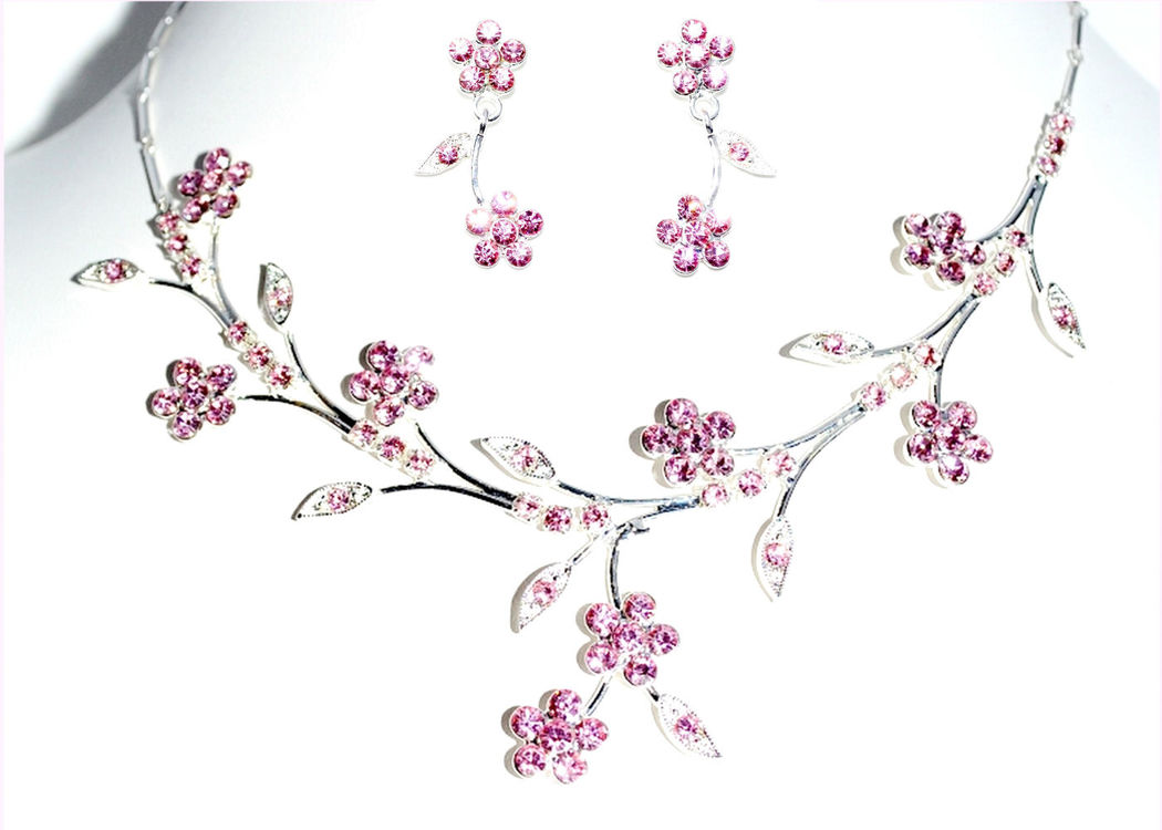 Parure de bijoux Fleurs - Bijoux de Mariage