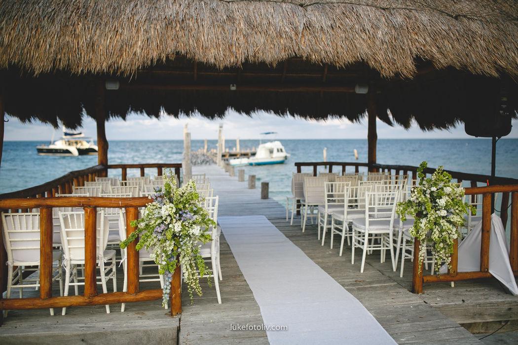 bodas en muelles privados