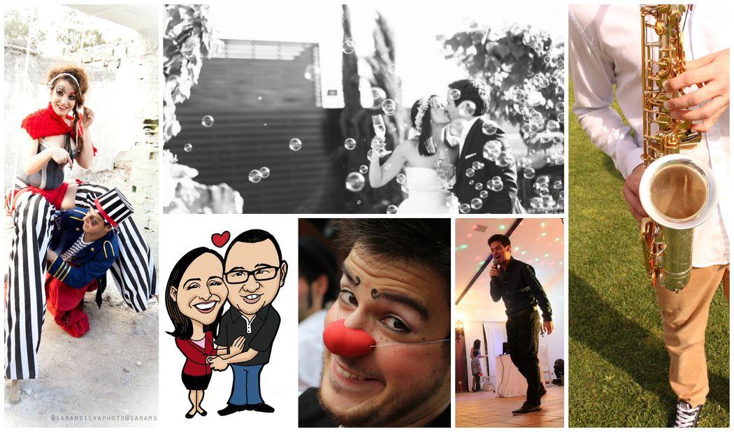 Serviços variados -Clowns, Caricaturista, Casal de Andas, Saxofone, Live Act Singer, etc...