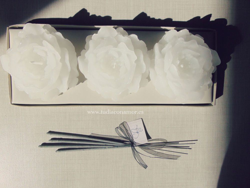 Detalle boda moderna y elegante