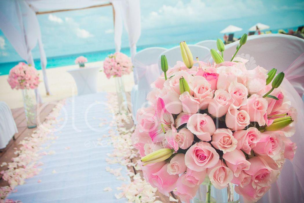 Una boda rústica pero en tonos pastel