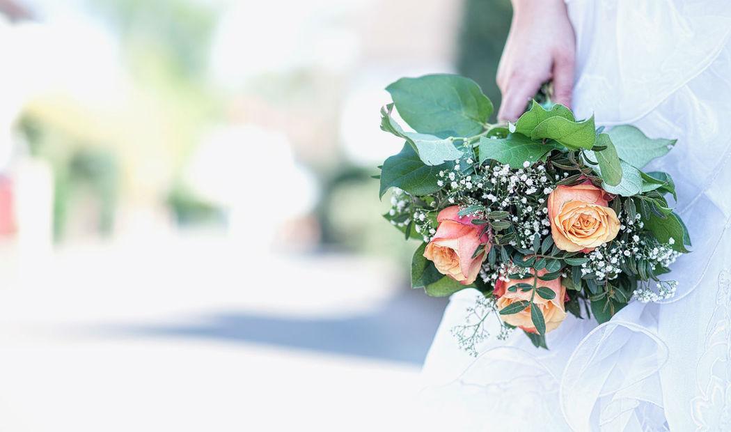 Beispiel: Brautstrrauß, Foto: Romina Certa Weddings & Events.