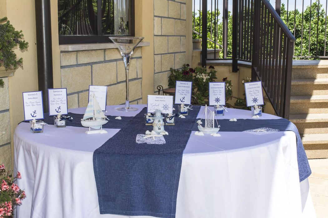 Tableau de mariage tema mare blu