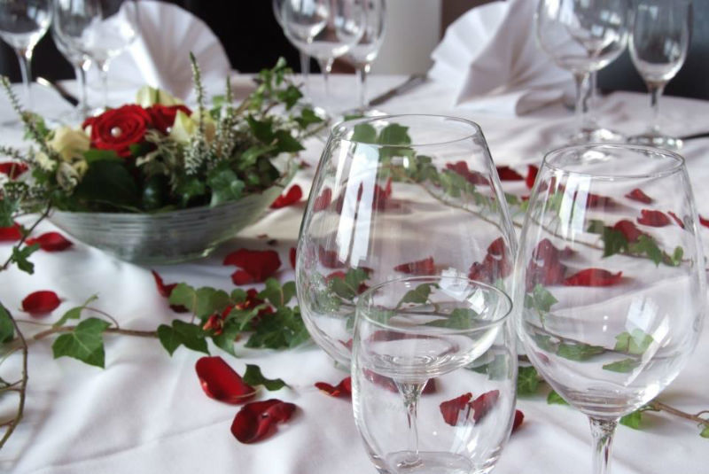 Beispiel: Tischschmuck für Ihre Hochzeit, Foto: La Villa Henkenberg.