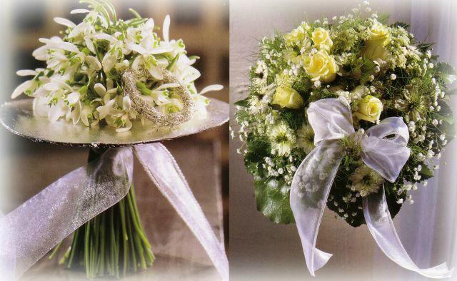 Beispiel: Wunderschöne Brautsträuße, Foto: Georgs Blumen.