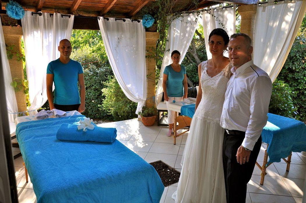 couple marié en SPA privatif