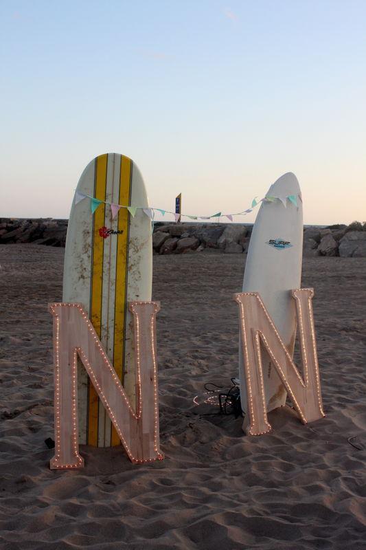 Boda surfera.