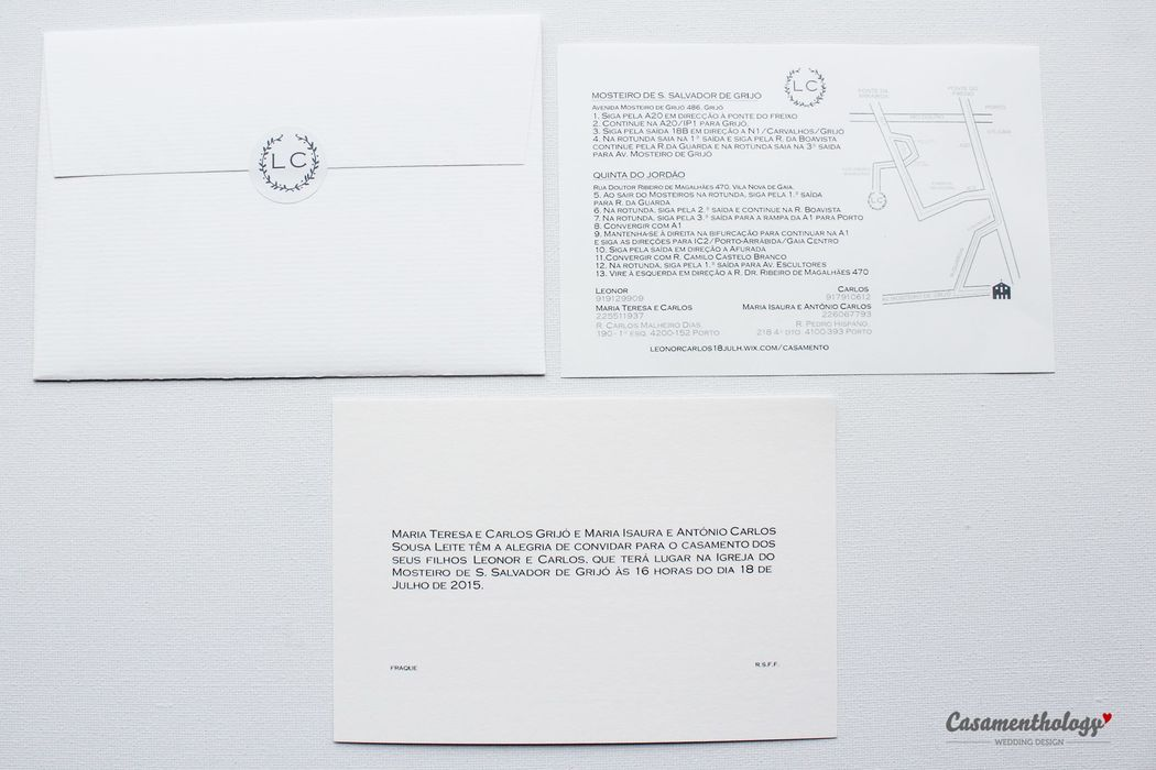 Convite, Envelope e Mapa