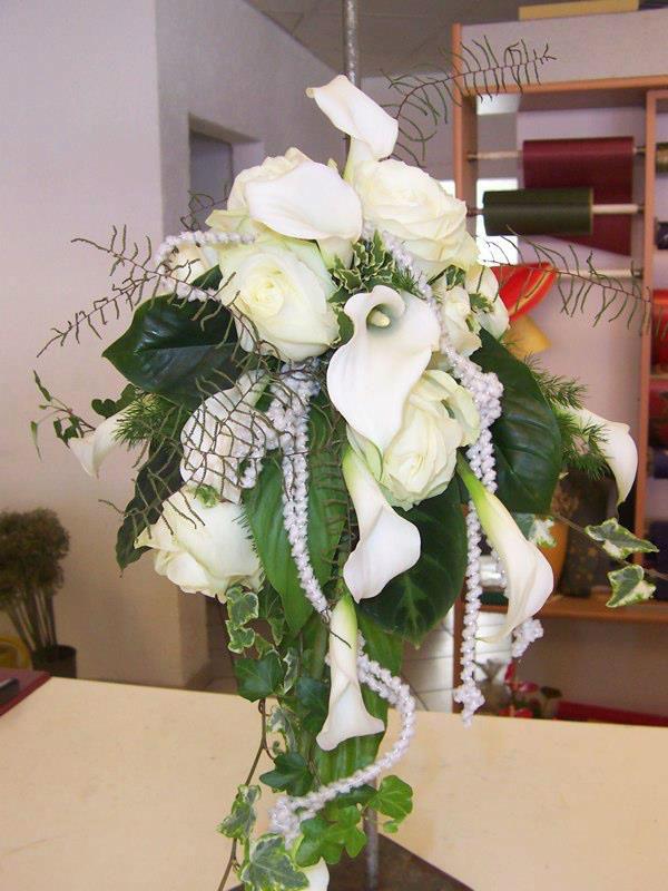 Beispiel: Brautstrauß, Foto: Blumenwerk Saarbrücken.