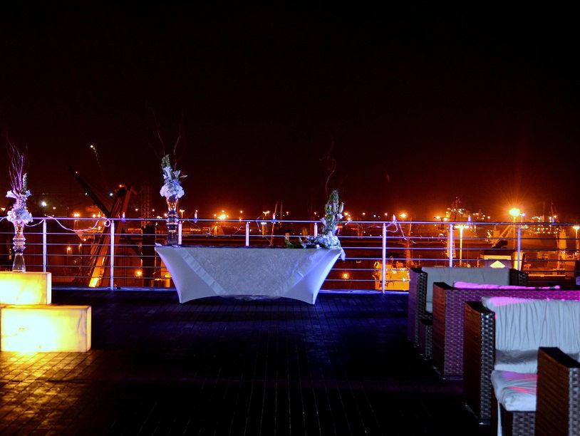 Boda Cilvil en terraza  del Sky lounge.