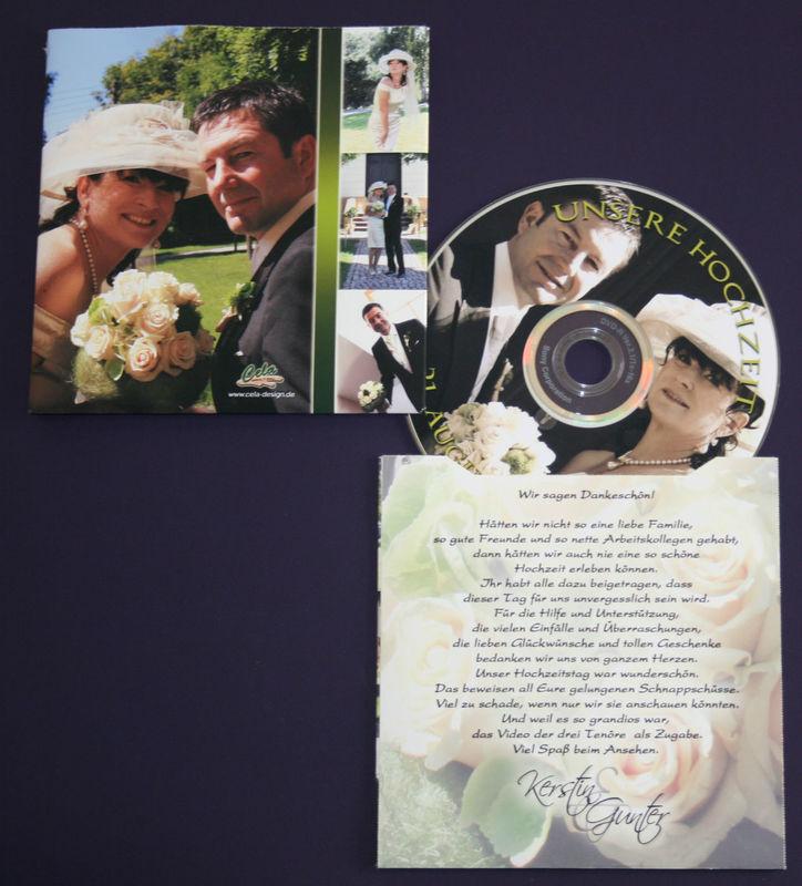 Cela-Design, CD-Hülle als Dankeskarte