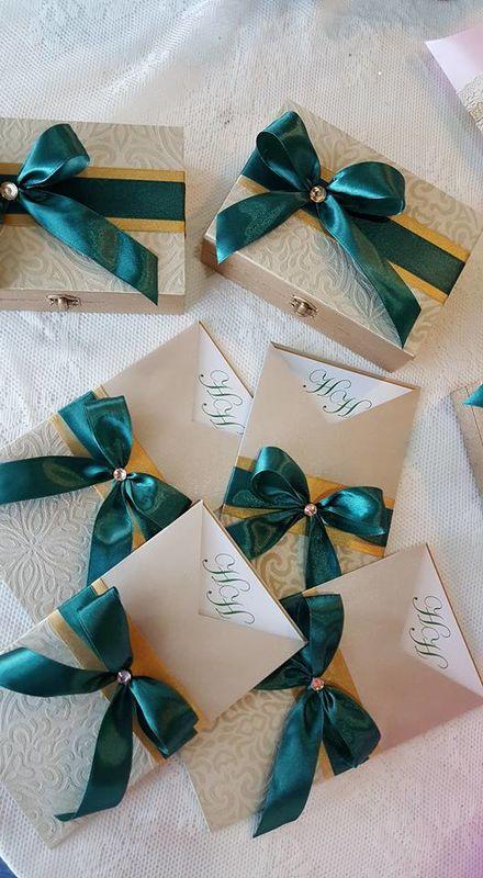 Convites de Casamento  Caixas convite para Padrinhos de Casamento