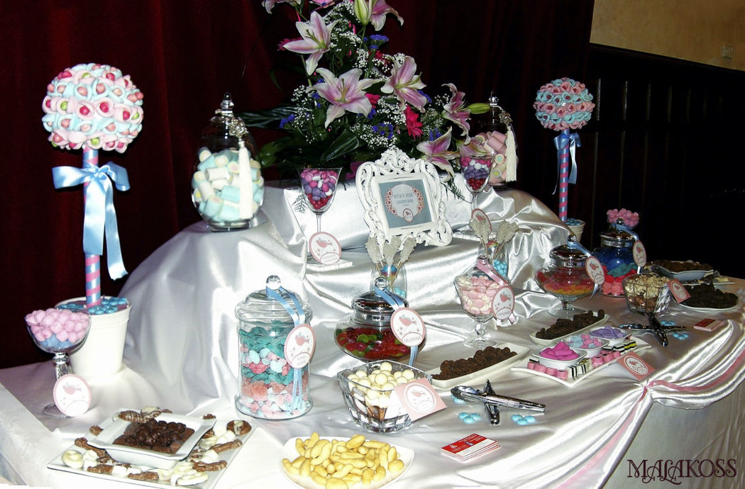 Candy bar en rosa y azul