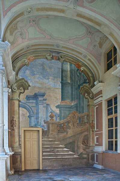 Villa Bria - Affresco nel Loggiato