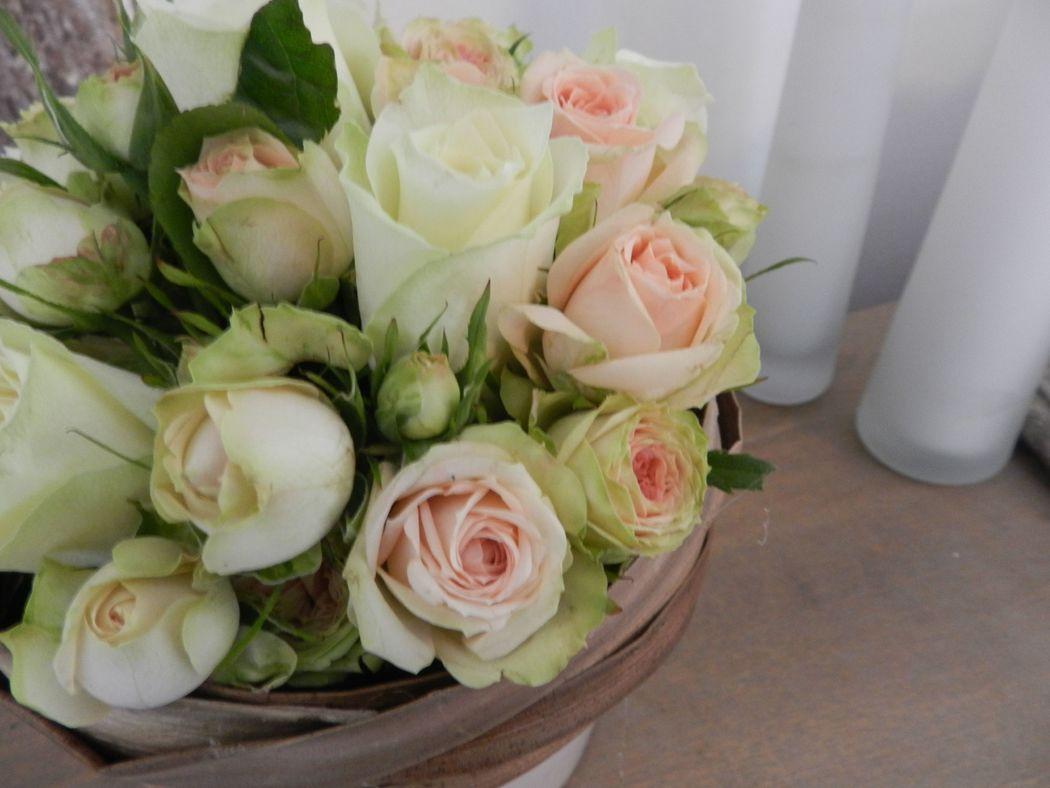 Composition de roses/ Estelle Leclerc