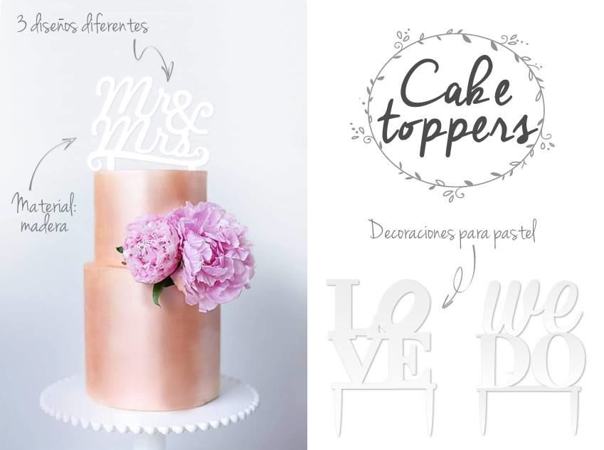 Cake toppers/ adornos para pastel