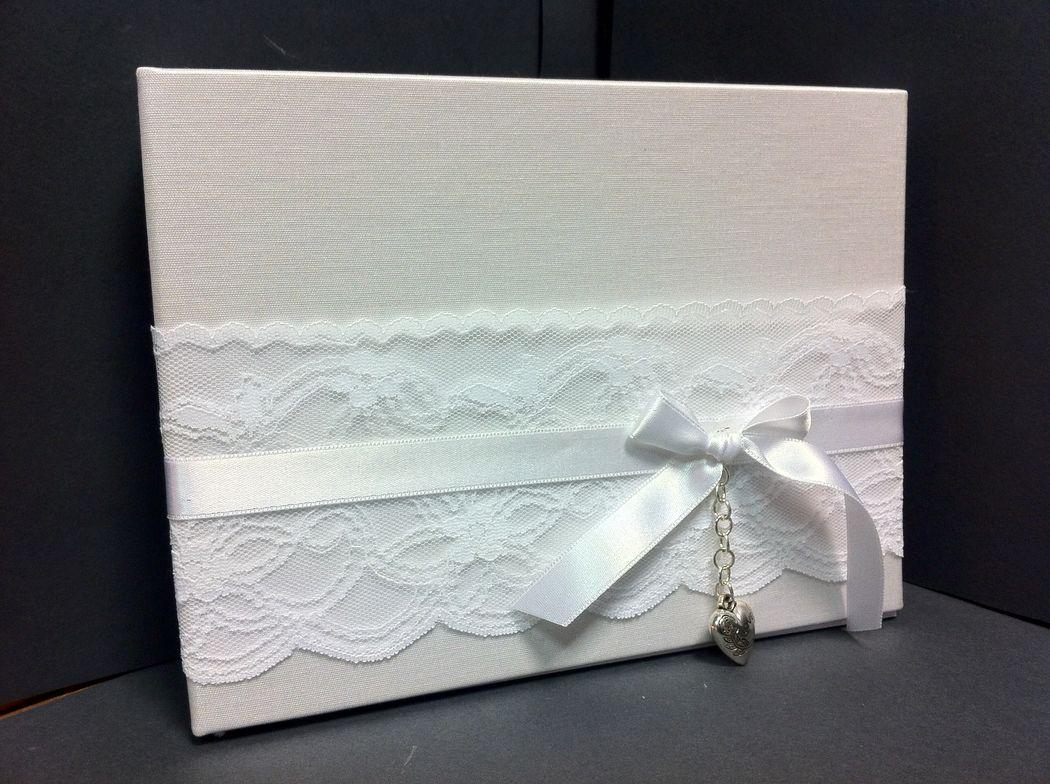 Guest book libro ospiti per matrimonio total white