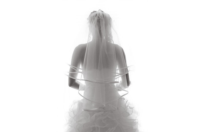 La mariée dans sa robe