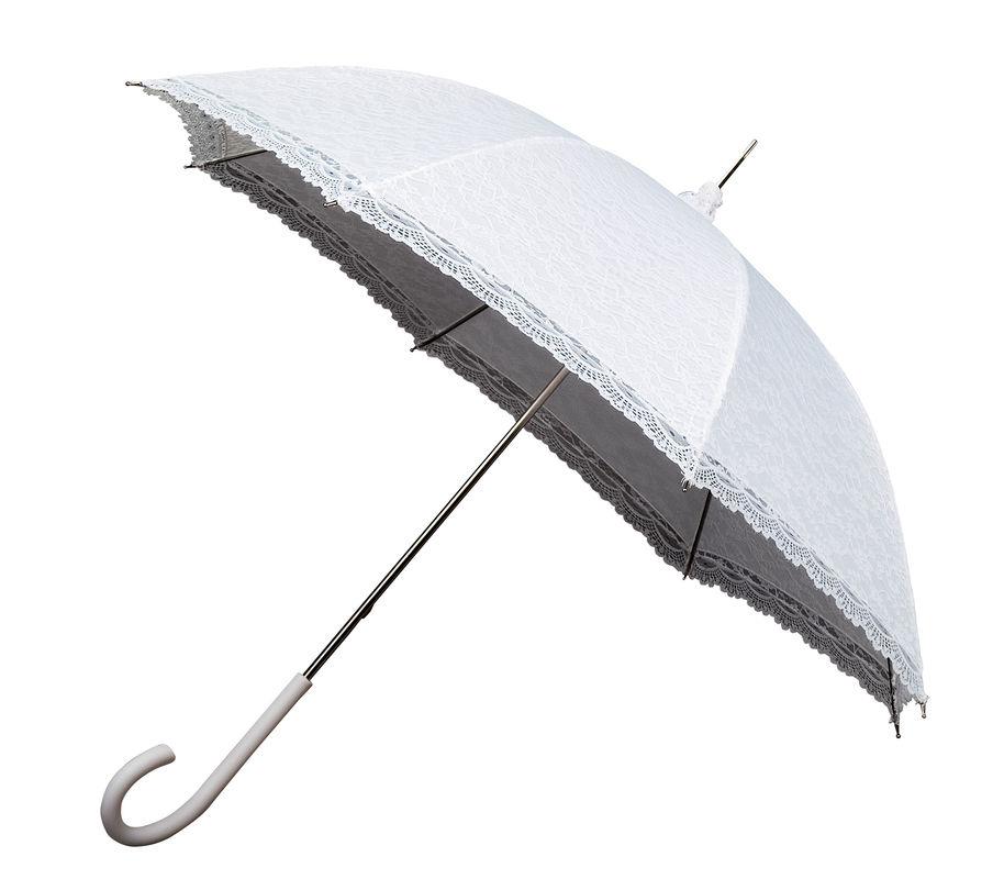 Parapluie Mariage - Blanc avec dentelle