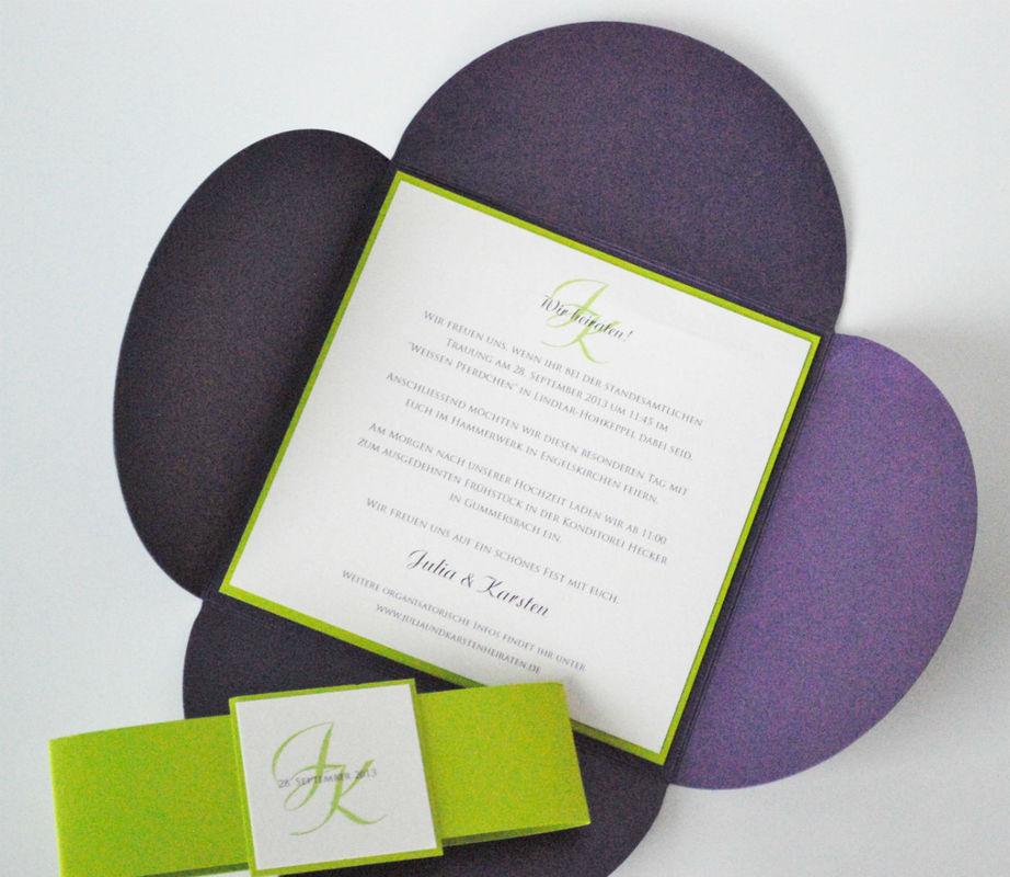Beispiel: Kreative Einladungskarten, Foto: Printsonalities.
