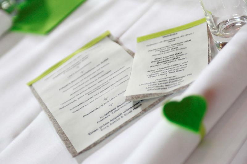Beispiel: Hochzeitsdekoration, Foto: AmVieh-Theater.