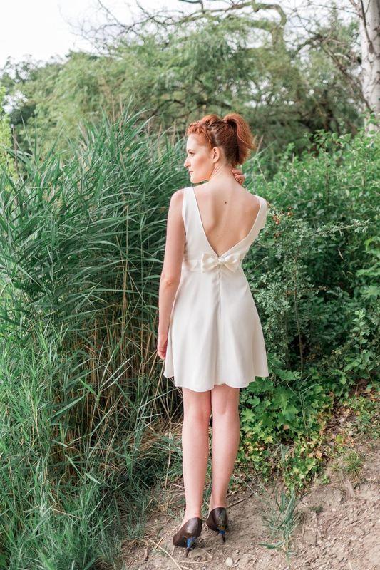 Kaa Couture modèle robe de mariée courte WENDIE
