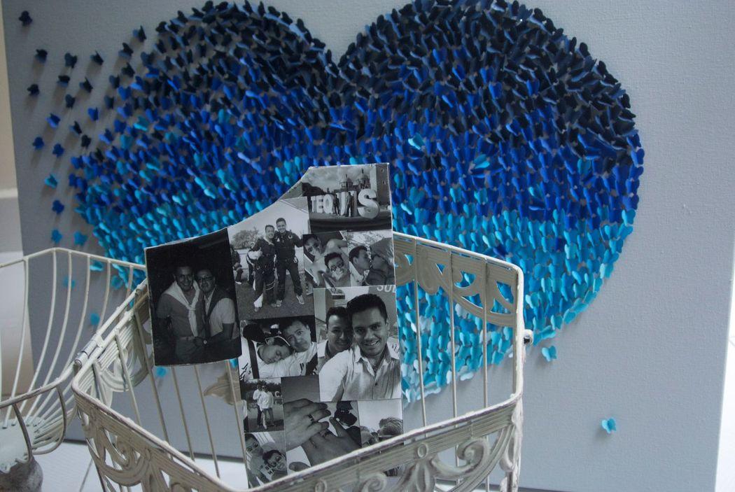 Fotonúmero y Cuadro Mariposa de Aniversario
