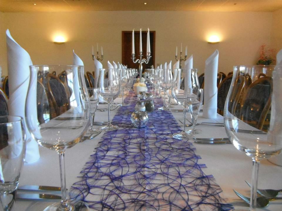 Beispiel: Bankett - Tischdekoration, Foto: Clubhaus Bramfelder SV.