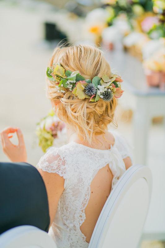 Photographie Mariage - île de Ré - Mg Event - Couronne de fleurs