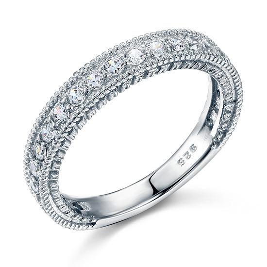 bague en argent 925 avec diamants synthétique
