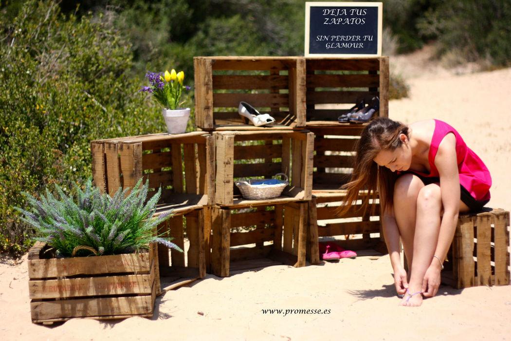 zapatero especial para bodas en la playa