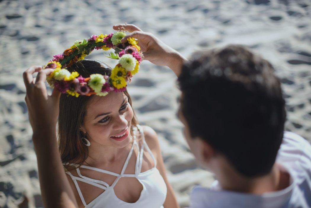 noiva sendo coroada