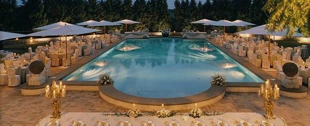 La piscina della Tenuta di Ripolo