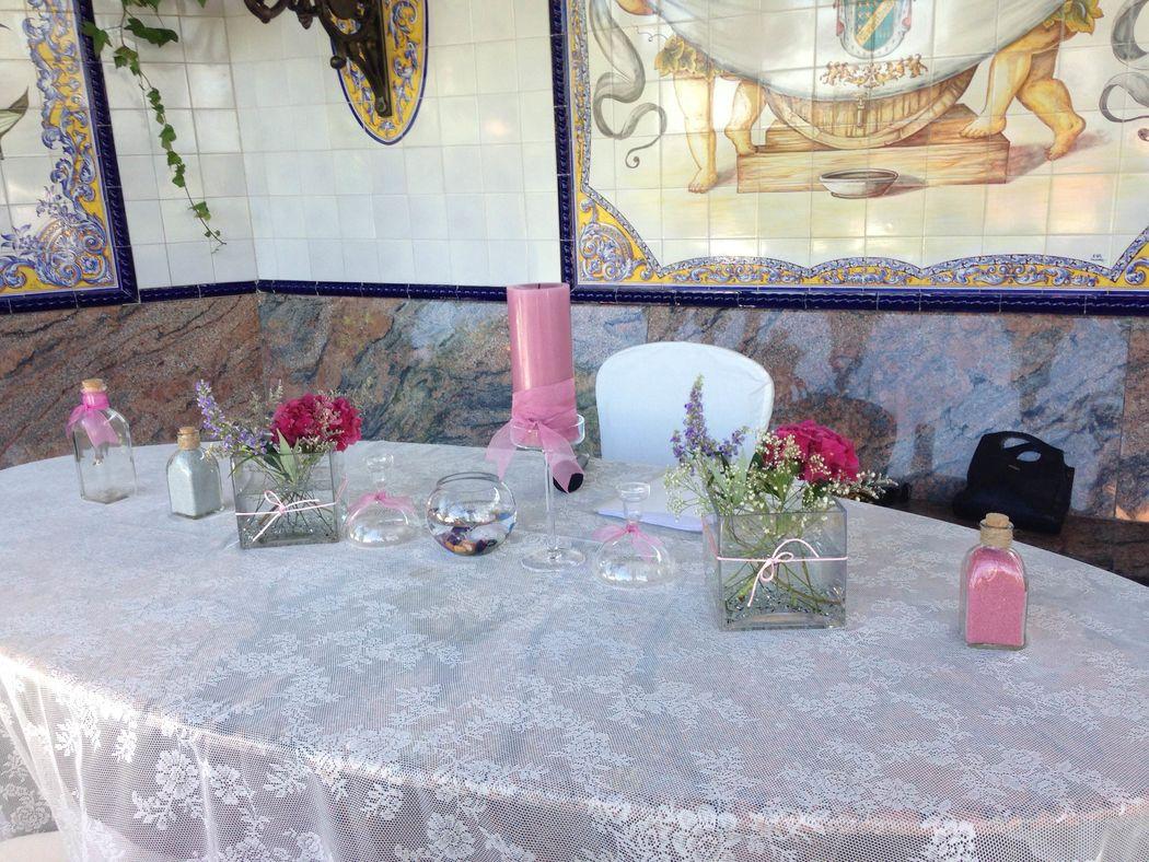 Montaje ceremonia ritual velas