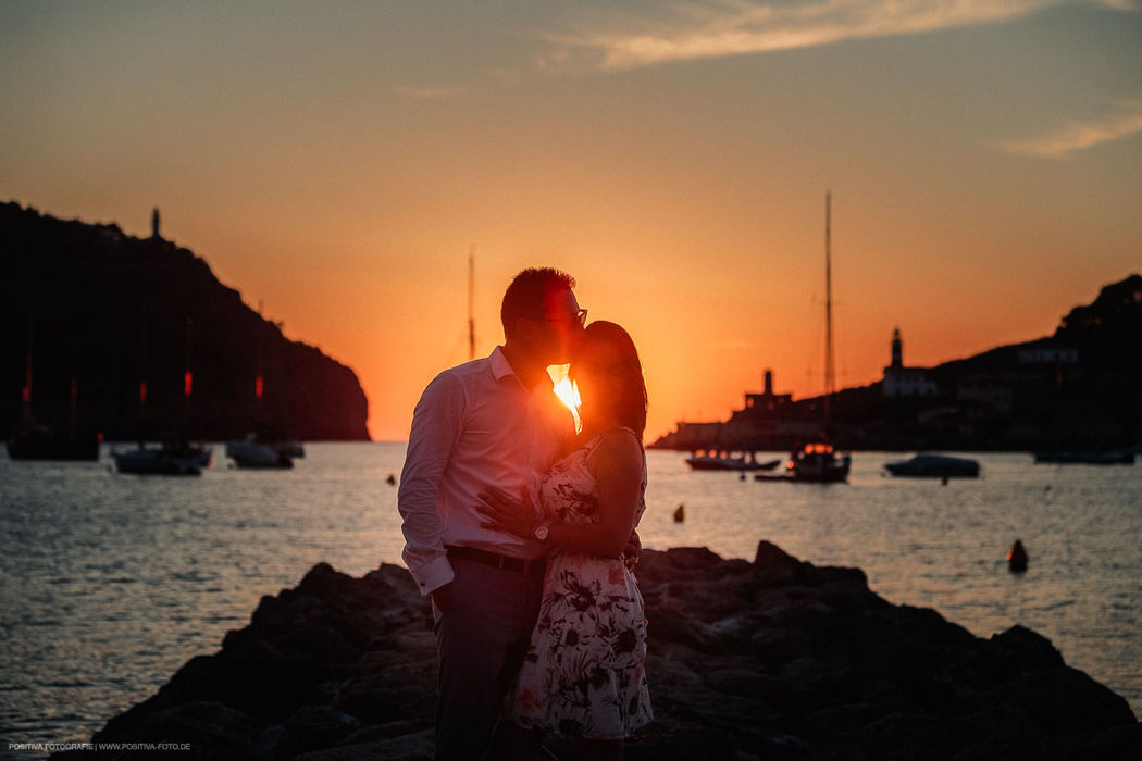Fotoshooting auf Mallorca beim Sonnenuntergang