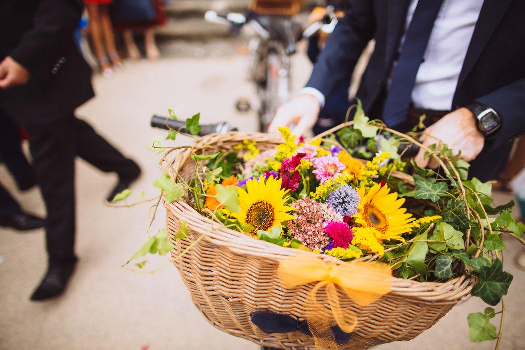 Au Jardin d'Egly - Centre de table champêtre multicolore