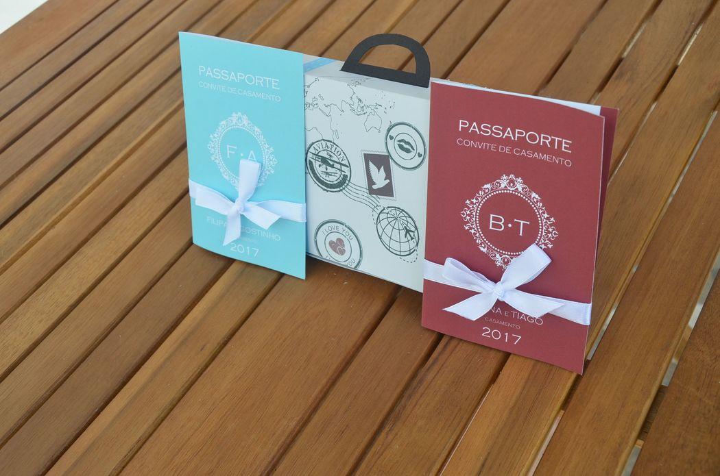 mala e passaportes