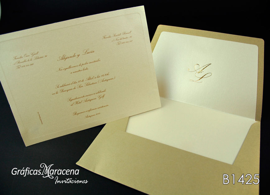 invitación de boda 2016 elegante