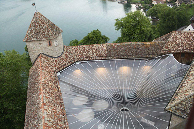 Beispiel: Luftbild, Foto: Schloss Rapperswil.