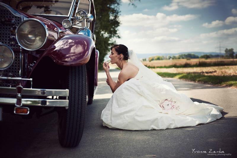 Beispiel: Portrait der Braut, Foto: Yvonne Zemke wedding photography.