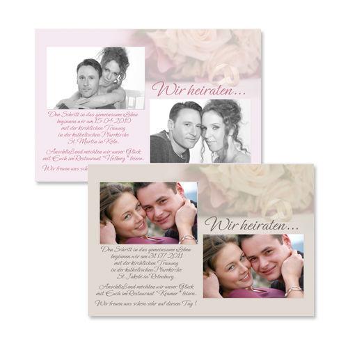 Beispiel: Hochzeitseinladungskarten, Foto: Colli-Cards.