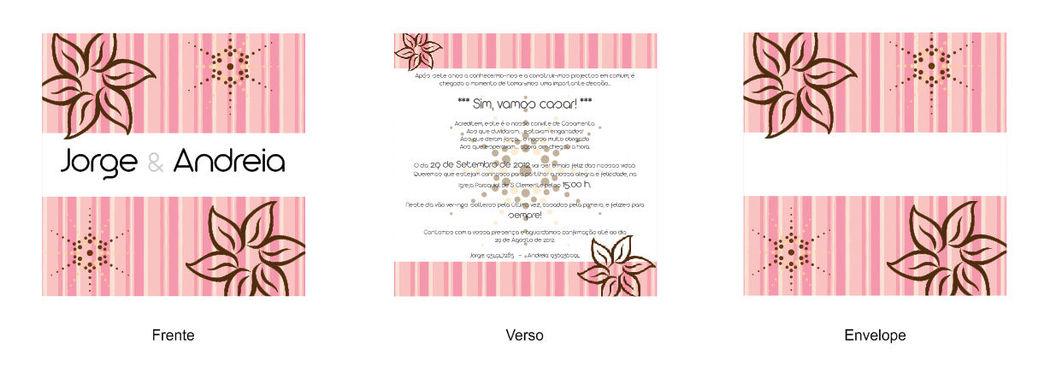 Convite quadrado Riscas e Flores