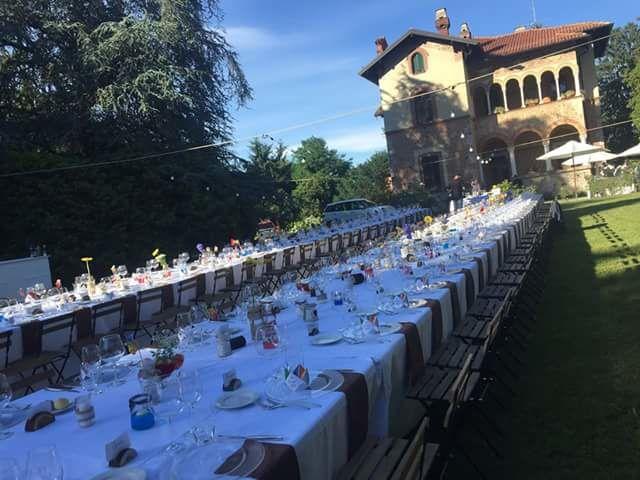 Tavolo imperiale villa Barilli