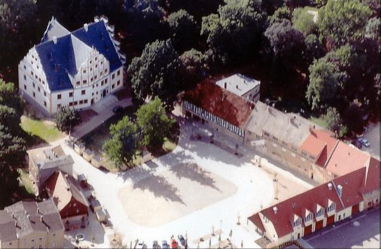 Beispiel: Luftaufnahme, Foto: Renaissanceschloss Ponitz.
