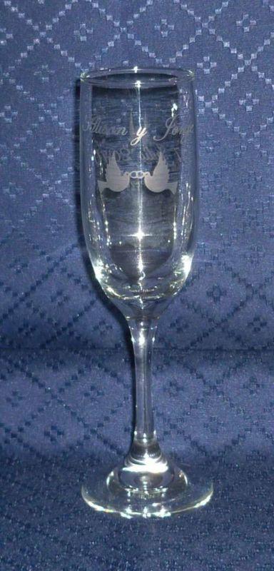 Copa Champagne Tallado personalizado.