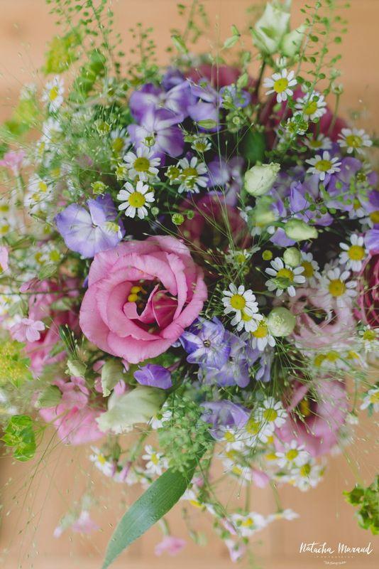 Bouquet champêtre pour la mariée